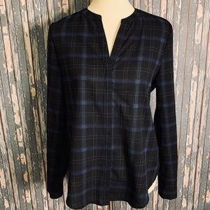 Sanctuary Long sleeve Plaid Blouse